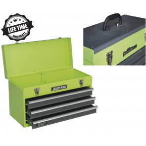 "NEW Sealey Tool Box Chest 21"" 3 Drawer Portable Ball Bearing Runners Green Grey"