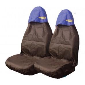 Car Van 4x4 Seat Covers Waterproof Nylon Front Pair Protectors to fit Daewoo