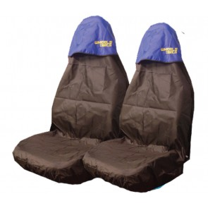 Car Seat Covers Waterproof Nylon Front Pair Protectors BLUE to fit Alfra Romeo