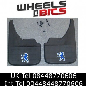 Peugeot Logo Universal Car Van Mudflaps Front Rear Partner Combi Mud Flap Guard