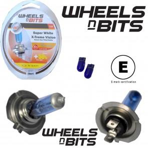Wheels N Bits H7 FREE T10 Super White Hi Low Main Dip Bulbs Bulb 12V 55W Watts