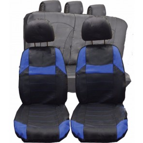 Honda HR-V FR-V UNIVERSAL BLACK & Blue PVC Leather Look Car Seat Covers