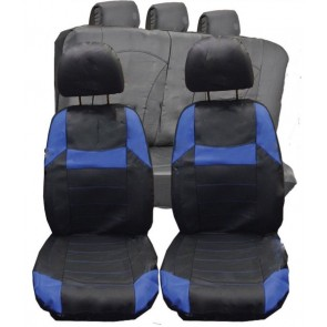 Alfa Romeo Mito GTV UNIVERSAL BLACK & Blue PVC Leather Look Car Seat Covers