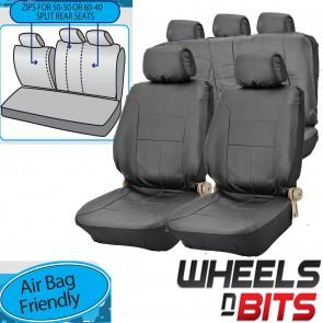 UNIVERSAL BLACK PVC Leather Look Car Seat Covers Rears fits Suzuki Splash X-90