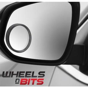 VW Golf Bora Eos Jetta 2x 5cm Self Adhesive Round Blind Spot Reversing Mirrors