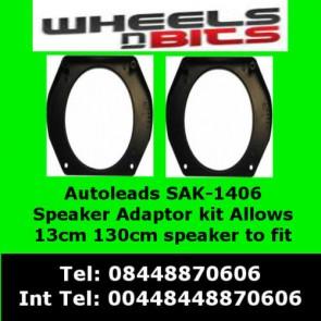 Autoleads SAK-1406 Alfa Romeo Spider 1990-1996 Front Door Speaker Adaptors Fits 13cm