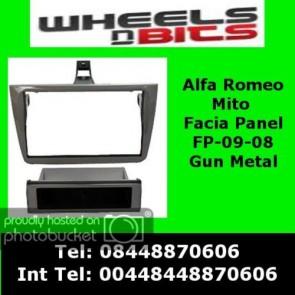 Autoleads FP-09-07 Alfa Romeo Mito 2008> Gun Metal Facia Adaptor Panel Surround Trim
