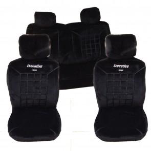 Wheels N Bits 18mm Thick Heavy Cloth Car Seat Covers Full Set 10pcs Air Bag Read Universal