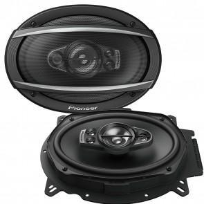 """Pioneer TS-A6970F 6x9"""" inch 5 Way 600Watts Each Car speakers Rear Shelf 100 RMS"""