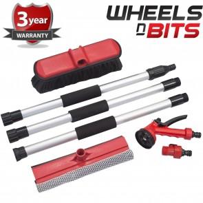 1.5m 4.5FT Car Wash Spray Gun Kit window Washer 7pc Kit Spray Gun Hose Connector