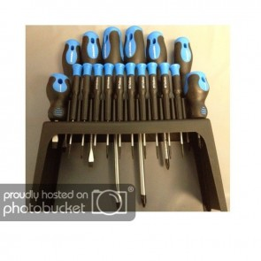 18PCs Magnetic Tips SCREWDRIVERS Screw Driver 8 Standard and 10 Percision