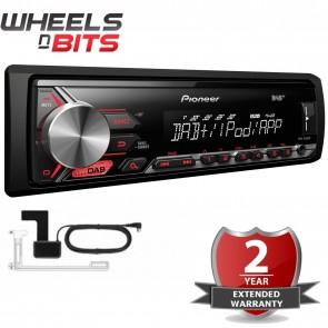Pioneer MVH-290DAB inc DAB+ Antenna Mechaless Car Stereo DAB USB iPod iPhone AUX