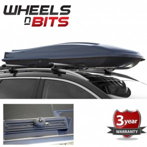 Sturdy Roof Box Gloss Black 440 Litre 50kg Capacity Weatherproof Includes Fittin