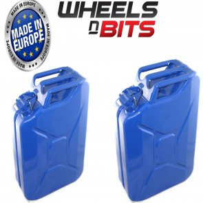 2 x 20 LITRE BLUE JERRY MILITARY CANS FUEL OIL WATER PETROL DIESEL STORAGE TANK