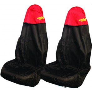 Car Seat Covers Waterproof Nylon Front Pair Protectors RED fits Fiat All Models