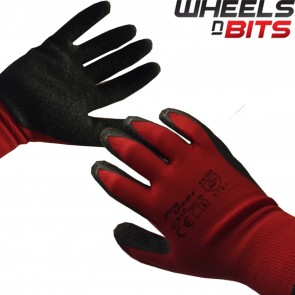 12 24 36 48 PAIRS LATEX COATED RED RUBBER WORK GLOVES BUILDER GARDENING SAFETY