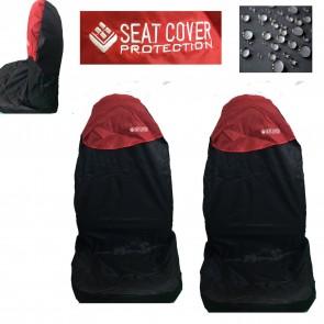 Wheels N Bits 2 Universal Car Seat Cover Waterproofed Nylon Red Black Fits A4 A6 A5 Q2 Q3 Q5