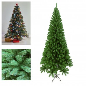 J-Living Slim Christmas Tree Pencil Green 7ft 2.1M Nice Slim Thick with Metal Stand New