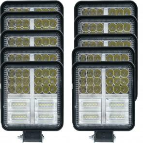 Wheels N Bits 10pk Work light Bar Stobe DRL & Continuous Light 12 24 Volt 162 Watt 4 Inch Thin