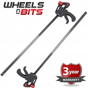 "Wheels N Bits 2PK 36"" 90cm Quick Rapid T Bar Speed Clamp Fast Ratchet Spread Holder One Hand"