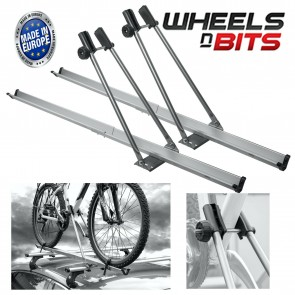 Wheels N Bits 2x Aluminium Universal Car Roof Bicycle Bike Carrier Upright Mounted Cycle Rack