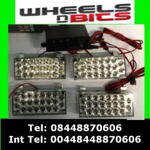 Novelty Blue & Red Flashing Strobe light 12 volts 3 flashing modes 88 leds 4x22