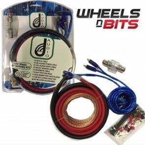 Wheels N Bits 2500W Car Amp Amplifier 4 Gauge Wiring 80amp Agu Fuse Complete Wiring Kit IP41