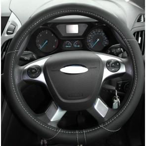 Opel Vauxhall Vectra Zafira 37-39cm Steering Wheel Glove Cover Black KA1325