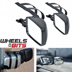 Wheels N Bits VW Golf Caddy Passat 2x Caravan Trailor Towing Mirror Extension Car Wing Mirrors