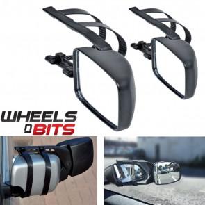 Wheels N Bits Mitsubishi Outlander 2X Caravan Trailor Towing Mirror Extension Car Wing Mirrors