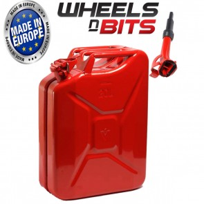 20L Litre Red Jerry Military Can Fuel Petrol Diesel Red Blue Green With Spout