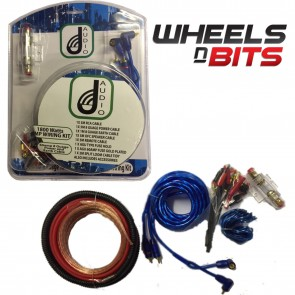 J-Audio Complete Amp Amplifier 8 Gauge Wiring Kit 1800 Watt Max Sub Or Speakers