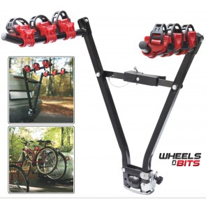 NEW 3 BIKE REAR TOWBAR MOUNT CYCLE BICYCLE CARRIER CAR RACK TOW BAR Ball Hitch