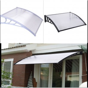 J Living 8FT Window Door Sun Canopy Hollow Sheet Awning Polycarbonate UV Rain