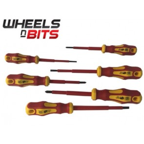 Wheels N Bits 6p VDE 1000 Volts Insulated Phillips Flat head Screwdriver Sparky Electrician
