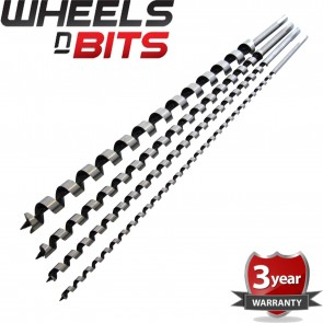 Wheels N Bits New 4pc 600mm Auger Drill Bit Set Hex Shank 8 12 16 24mm Wood Work Extra Long