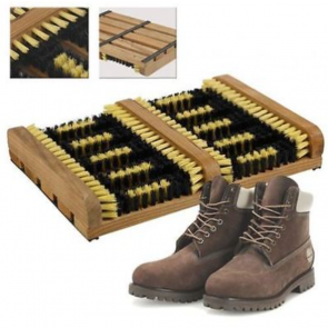 NEW WNB HEAVY DUTY DOUBLE SHOE BOOT SCRAPER BRUSH OUTDOOR DOOR MAT WELLY CLEANER