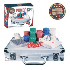 NEW 200pc Poker Set In Aluminium Case Texas Hold'Em Casino Game Chips Cards Dice
