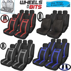 VW Polo Passat Touareg Universal PU Leather Type Car Seat Covers Set Wipe Clean