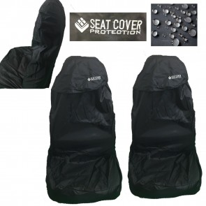 Wheels N Bits 2 Universal Car Seat Cover Waterproofed Nylon All Black For A4 A6 A5 Q2 Q3 Q5