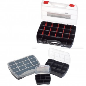 Draper 4pc Storage Tool Box Oragniser 8-25 Compartments For Screws Terminal Etc
