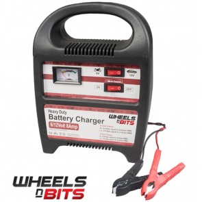 WNB 8 AMP BATTERY CHARGER FOR SMALL CARS UP TO 2.5 LITRE TOUGH COMPACT EMERGENCY