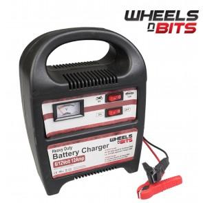 12 AMP 6V 12V Volt Battery with Fast Charger or Trickle charge  Upto 3.5L Engine