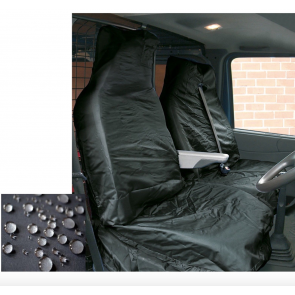 FORD TRANSIT 2007 Super Extra Heavy Duty Van Seat Covers Protectors 2+1  Black