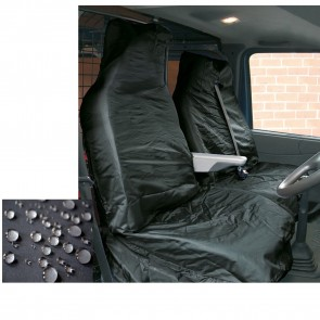 FORD TRANSIT 1997 Super Extra Heavy Duty Van Seat Covers Protectors 2+1  Black