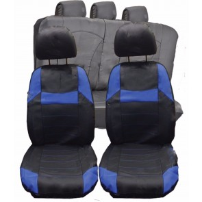 Lexus CT200H IS200 UNIVERSAL BLACK & Blue PVC Leather Look Car Seat Covers Set