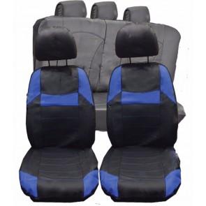 Mercedes CLC CLA CLS UNIVERSAL BLACK & Blue PVC Leather Look Car Seat Covers Set