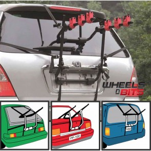 Car Boot 3 BIKE CYCLE CARRIER RACK To Fit Nissan Juke Micra Leaf Cube Note