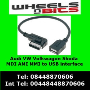 Wheels N Bits Audi AMI MDI MMI S4 S6 S8 Q5 Q7 TT USB Flash Drive interface Adaptor Connector