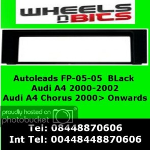 Autoleads FP-05-04 AUDI A4 / Chorus Black Fascia Facia Adaptor Panel Surround